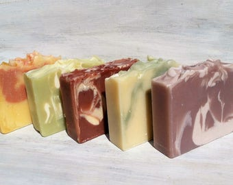 Choose Any 4 Bars Soap for 20.00 (SAVE 4.00) All Natural Hand Crafted with Essential Oils and Skin Loving Butters