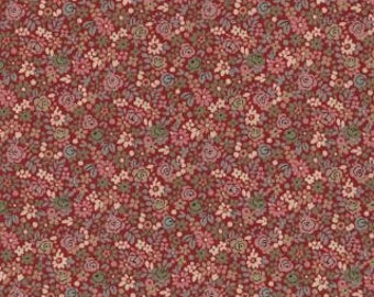 LAST PIECE 1 Fat Quarter of La Belle Fleur Rouge Floral Florette Red by French General by French General for Moda