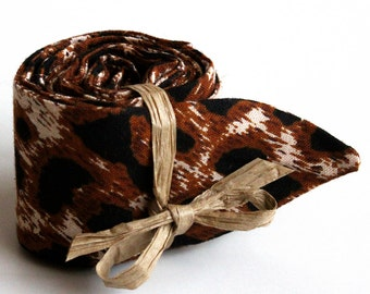 Cool Tie. Polymer Filled Neck Cooler. Cooling Neck Wrap. Brown Leopard Print Necktie. Christmas Stocking Stuffer. Outdoor Hiking Gear