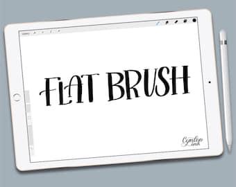 Custom Procreate Brush, Flat tip, brush lettering, Procreate Brushes, Procreate Brush, Serif and sans serif, iPad lettering