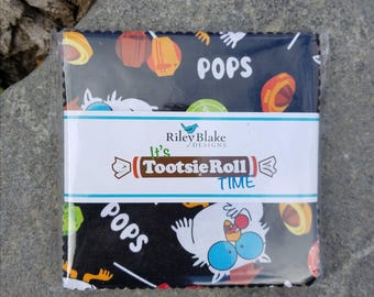 "SALE  1 Pack 5"" inch charm pack It's TOOTSIE ROLL Time by Riley Blake Designs"