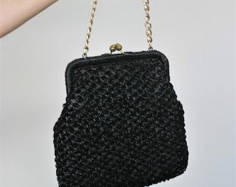 Straw Bag Raffia Bag Raffia Purse Straw Handbag Straw Purse Straw Clutch Rattan Bag Lucite Purse Wicker Purse Wicker Bag Evening Gown