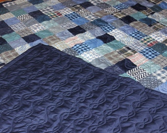 Queen Size Quilt - Supply Your Own Fabrics - Custom Made Quilt - Patchwork Quilt - Full Payment