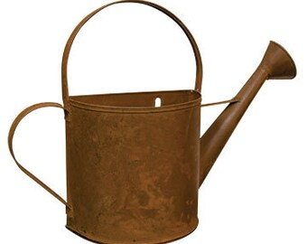 """8"""" Rusty Wall Watering Can"""