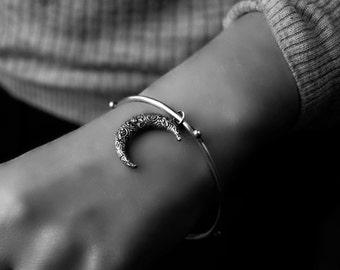Fait sur commande... Errance Crescent - Moon bracelet en argent Sterling