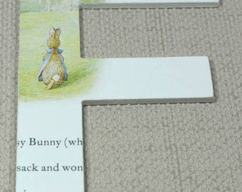 Flopsy Bunny Wall Letters, Buy 2 Get 3rd Free! Hand painted, Free Gift Wrapping!