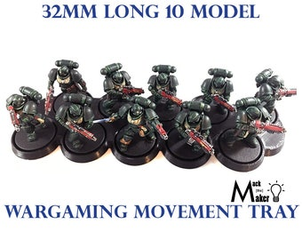 Warhammer 40000 Warhammer 40K 32mm Base  10 model Movement Tray Age of Sigmar Primaris Space Marines Death Guard Wargaming Miniatures