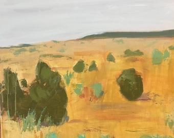 large abstract landscape painting square landscape pamela munger