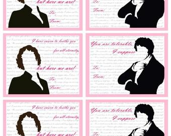 Pride and Prejudice Valentines Mr. Darcy and Elizabeth/ Jane Austen