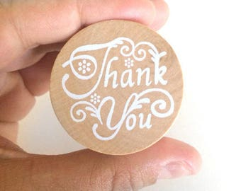 thank you stamp - thank you favor stamp - wedding thank you stamp - stationery stamp - calligraphy stamp - circle stamp - thank you note