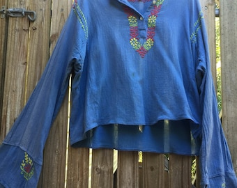 Vintage 70's Indian gauze top