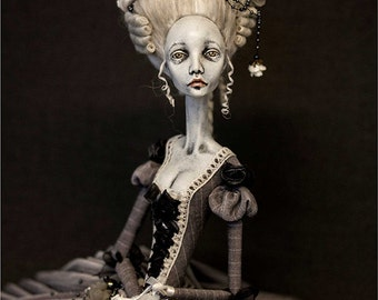 Making a Ribbon Jointed Doll in Dorote Zaukaite style, step by step guide