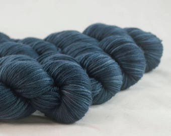 Across the Bridge Blue Hand Dyed Superwash Merino DK Yarn
