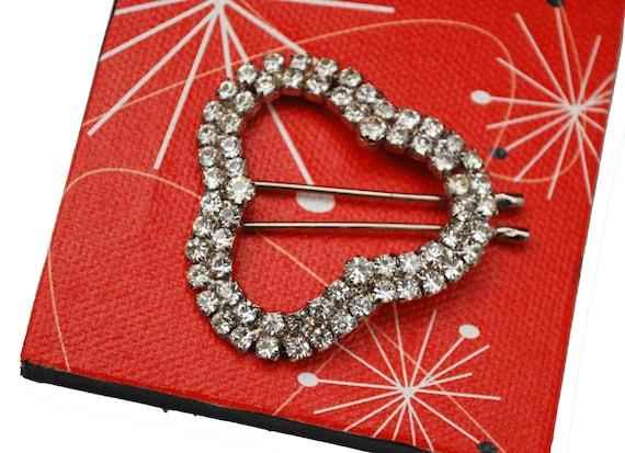 Rhinestone hair clip  silver Clover shape  barrette   bobby pin  Wedding bride