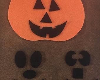 Halloween Jack-o-lantern Felt Activity/Preschool