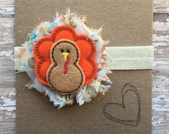 Thanksgiving Turkey Headband, Fall, Newborn, Baby Headband