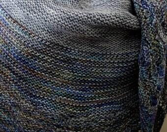 Handmade Merino Jodi Shawl cresent shape gorgous and warm.