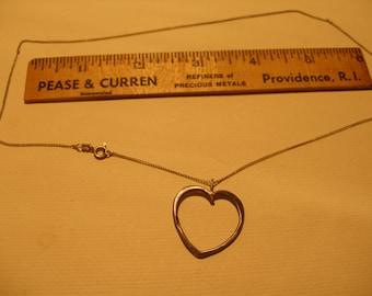 """18"""" Sterling Heart Pendant(542)"""