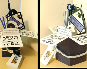 Graduation Handmade pop up box Penn State 2 Variations -  Free Shipping in USA