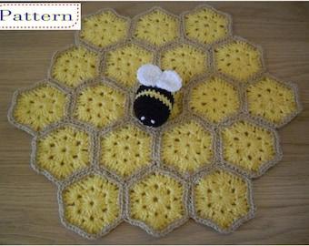 Bumble Bee Security Blanket Toddler Baby Lovey Comforter Blankie Lovie Crochet PATTERN