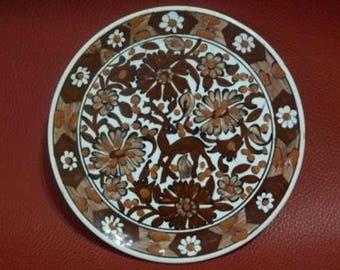 Old Rodos Ceramic Plate, Signed 'IKAROS RODOS', Rodos Pottery, Rhode's Decoration