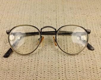 80's  Engraved Antiqued Silver Eyeglasses