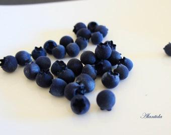 Faux Blueberry Fruit,Fake food Dessert,Fake Blueberry,Kitchen Decor,Blueberry 30 pc