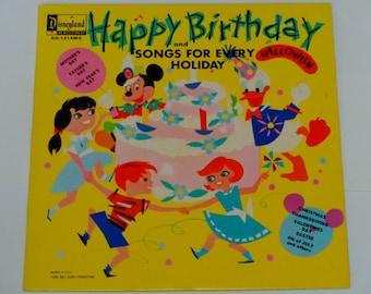 Happy Birthday and Songs for Every Holiday - Valentine Waltz - Children's Record - Disneyland 1964 - Vintage Vinyl LP Record Album