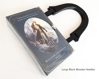The Princess Bride Recycled Book Purse - Book Cover Handbag - Bookish Wedding Theme - Bridesmaid Gift - Princess Book Clutch