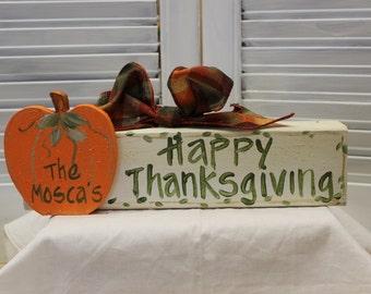 Happy Thanksgiving Block