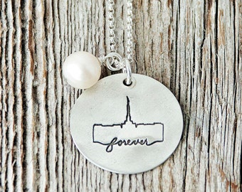 Palmyra New York Temple, Temple Forever Necklace, Temple Necklace, Temple, LDS Jewelry, Mormon Charms, LDS Wedding, Palmyra Temple Necklace