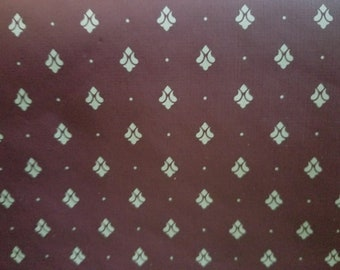Vintage Imperial Wallpaper Roll Soft Brick Red 56.37 sq. feet (11 yards)