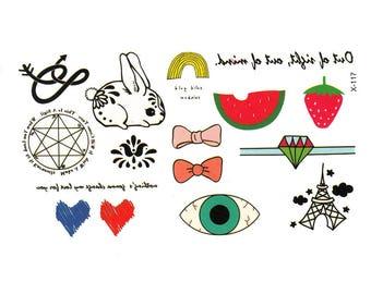 Doodles Tattoo Sheet - 1 Pc