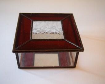 Stained Glsss Trinket or Keepsake Box