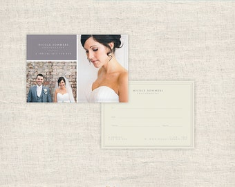 Gift Certificate Template - Photography Gift Card Template - Wedding Photo Gift Card Template for Photographers - INSTANT DOWNLOAD