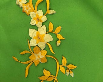 Beautiful embroider Aplique flower.