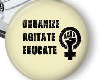 Feminist Button/ Women's March Button/ Women's Protest Pin/ Political Pin/ Protest Button/ Women's March