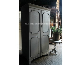 FOR SALE  Divine 'French Grey' Edwardian Armoire