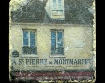 Set of 4 Marble Coasters - St Pierre Montmartre Paris France
