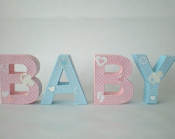 Baby lettering from 3d letter gift for birth