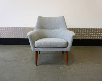 Danish Mid Century Lounge Chair 1960's Vintage Design Armchair