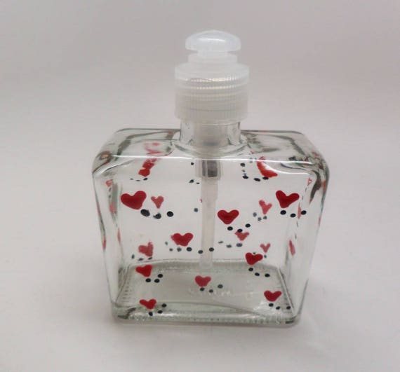 Hand painted Valentine Soap or Lotion Dispenser