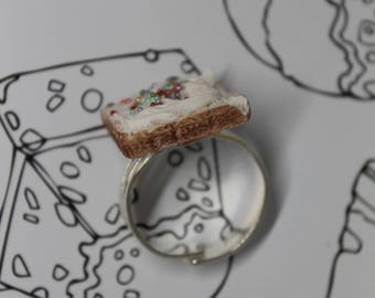 Whole Slice Fairy Bread Charm/ Food Jewelry/ Handmade Mini Polymer Clay Food Pin