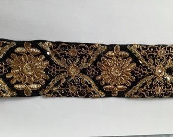 galon motifs brodés dorés #embroidered lace