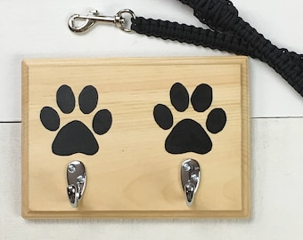 Paw Print Decor | Dog Leash Hanger | Leash Hook | Dog Accessories | Home Decor | Gift for Her | Dog Lover Gift | Dog Storage