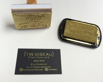 Custom Business Card Stamp with your logo and business information