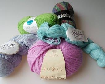 5 skeins orphan yarn fine fibers alpaca cashmere merino wool mulberry silk