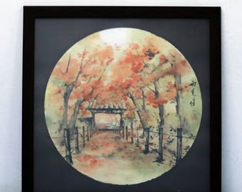 "Original Painting with Frame - ""Peaceful"""