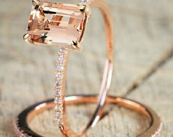 18 K Rose Gold Morganite imitation Ring
