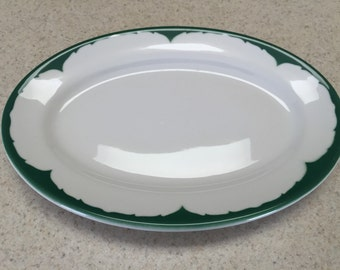 Shenango Oval Green Platter